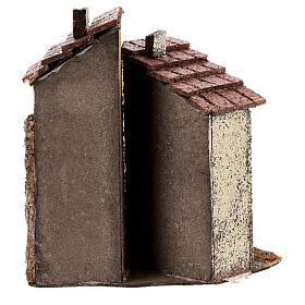 Neapolitan Nativity scene house in cork 15x10x15 cm for statues 4 cm s4