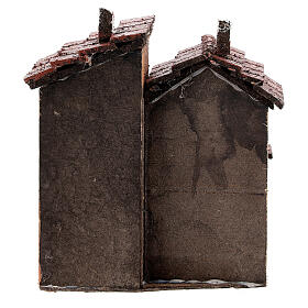 Double house cork for Neapolitan Nativity Scene 15x10x10 cm for 3 cm figurines s4