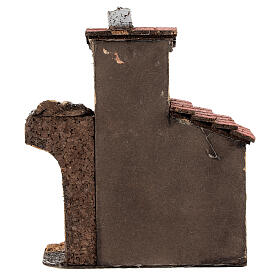Cork house with ruined arch for Neapolitan Nativity Scene with 4-6 cm figurines 15x15x5 cm s4
