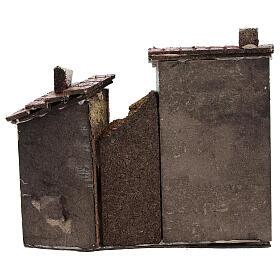 Case muro sughero miniatura presepe napoletano 15x15x5 per statue 4 cm s4