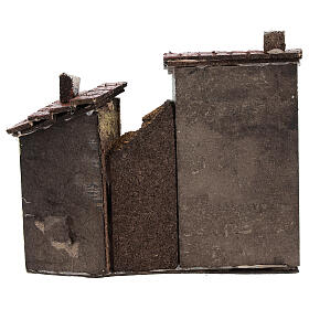 Miniature houses with cork walls Neapolitan Nativity Scene for 4 cm figurines 15x15x5 cm s4