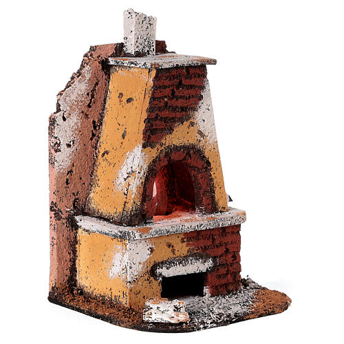 Masonry oven with light fire effect 15x10x10 cm for Neapolitan Nativity Scene with 8-10 cm figurines 3