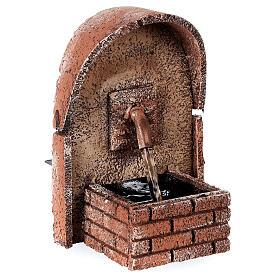 Fontaine en arc auvent liège 15x10x10 cm pour santons 8-10 cm s2