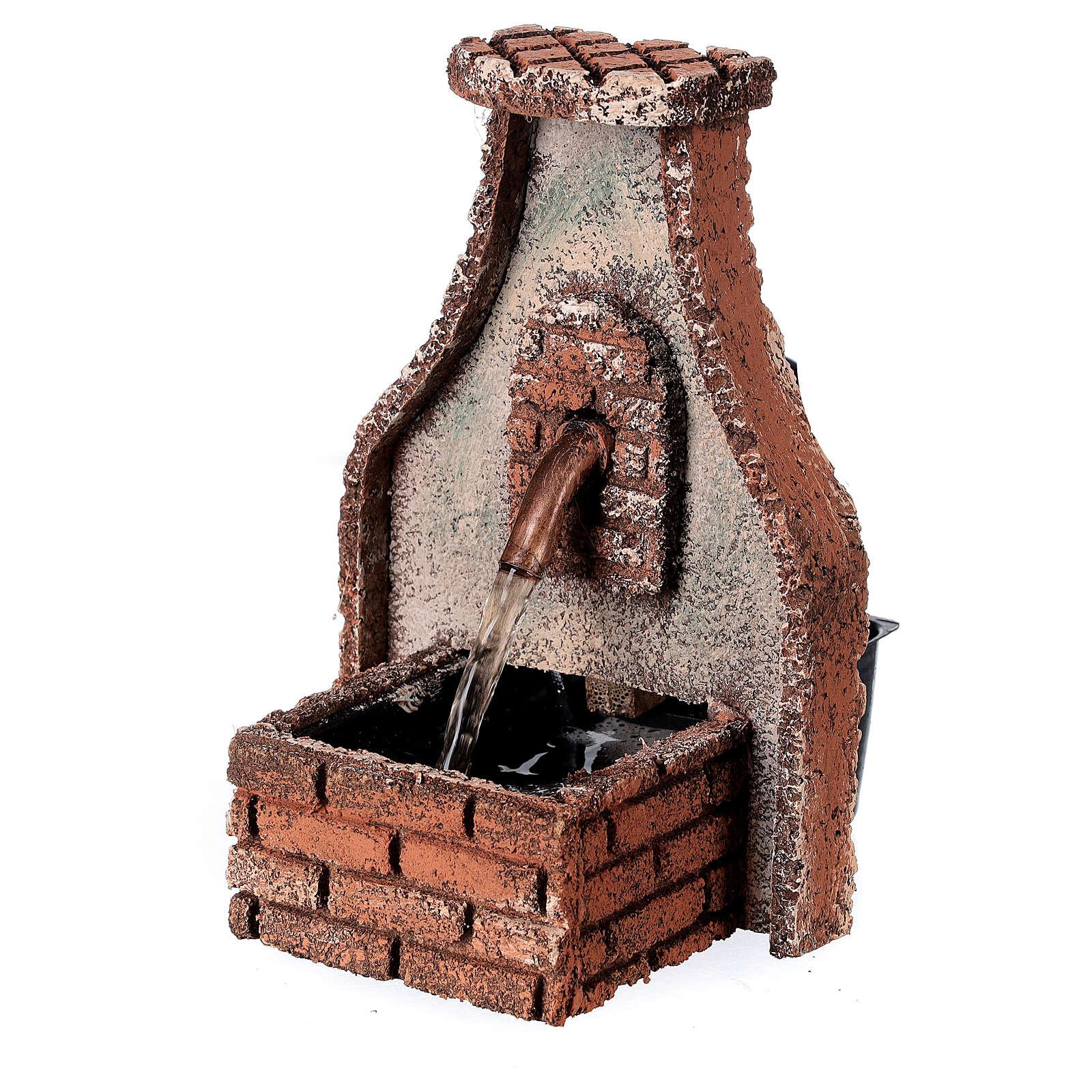 Fountain with copper tap Neapolitan Nativity Scene 15x10x10 cm for 8-10 cm figurines 4
