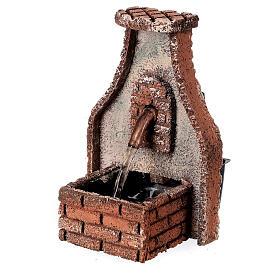 Fountain with copper tap Neapolitan Nativity Scene 15x10x10 cm for 8-10 cm figurines s3