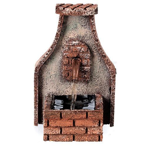 Fountain with copper tap Neapolitan Nativity Scene 15x10x10 cm for 8-10 cm figurines 1