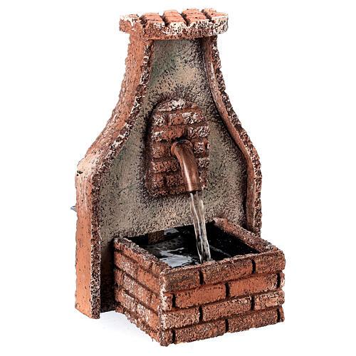 Fountain with copper tap Neapolitan Nativity Scene 15x10x10 cm for 8-10 cm figurines 2