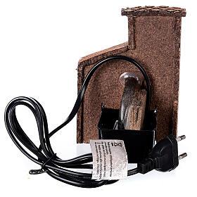 Fontaine électrique crèche napolitaine 10-12 cm liège 15x10x10 cm s4