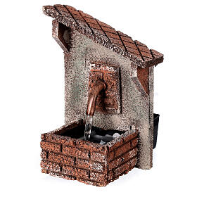 Fontanella presepe tetto obliquo presepe napoletano 15x10x10 cm per 8-10 cm s3