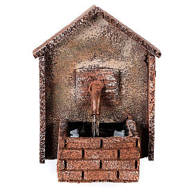 Working fountain for Neapolitan Nativity scene sloping roof 14x10x10 cm s1