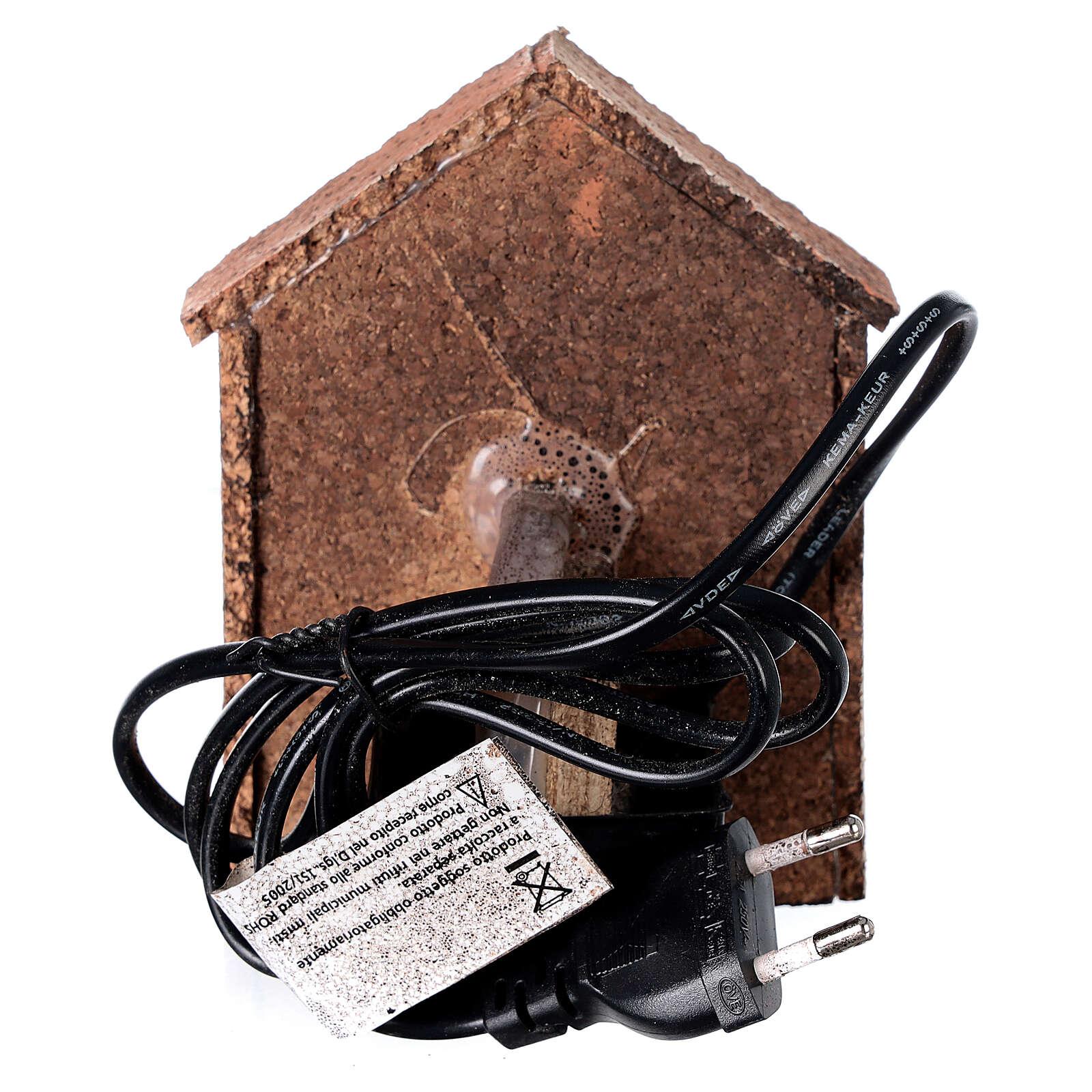 Fontaine électrique crèche napolitaine 8-10 cm auvent en pente 14x10x10 cm 4