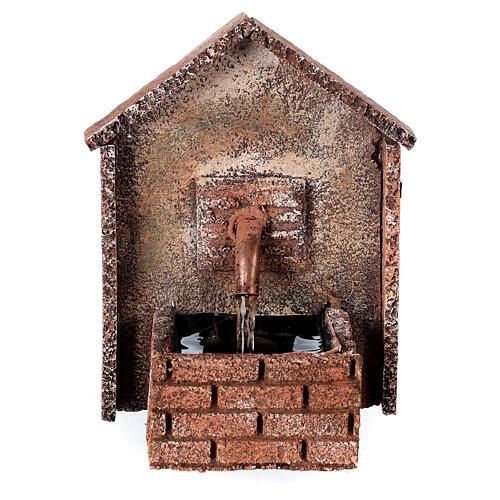 Fontaine électrique crèche napolitaine 8-10 cm auvent en pente 14x10x10 cm 1