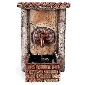 Fontana fronte rettangolare con pompa 15x10x10 cm per statue 10-12 cm s1