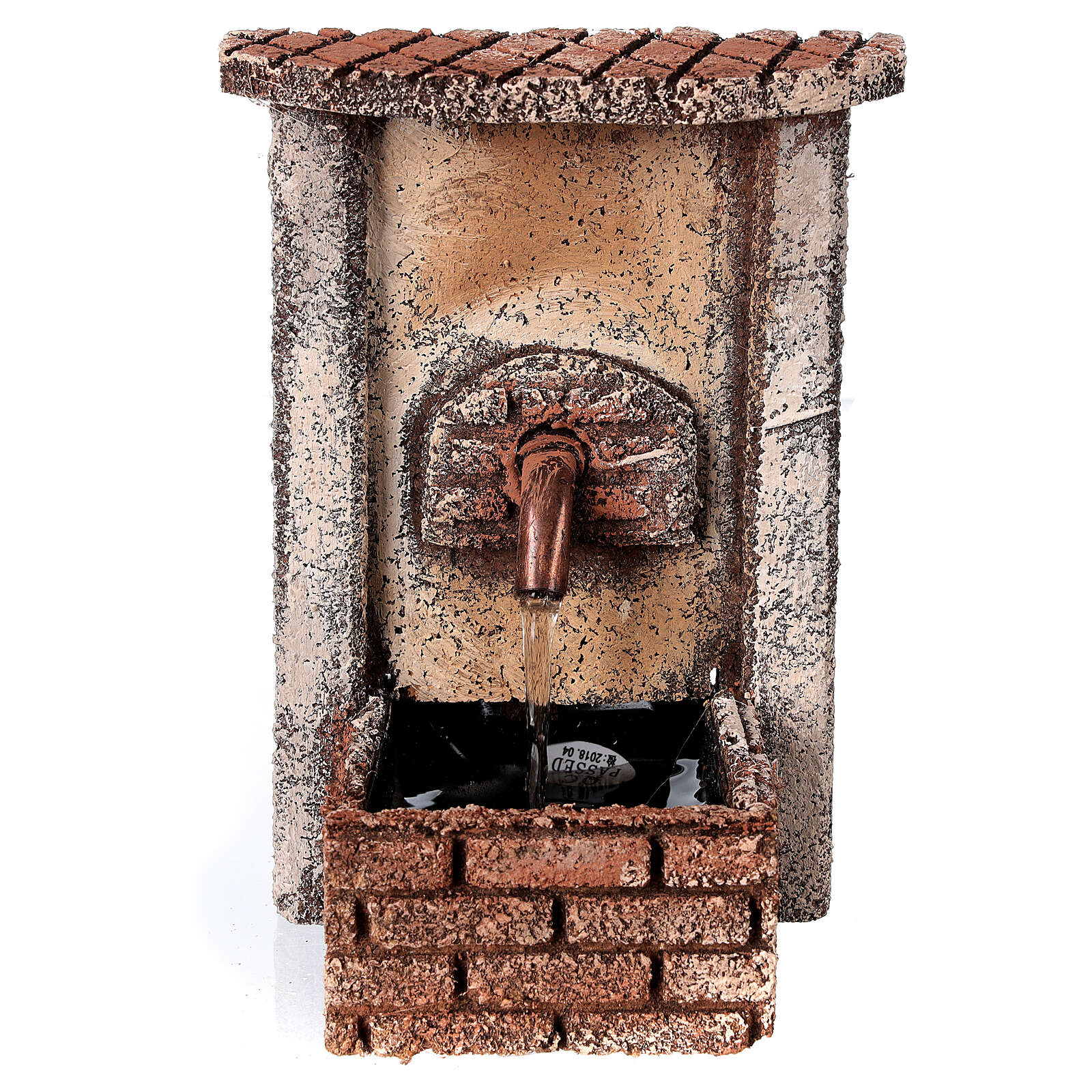 Rectangular fountain with pump 15x10x10 cm for 10-12 cm figurines 4