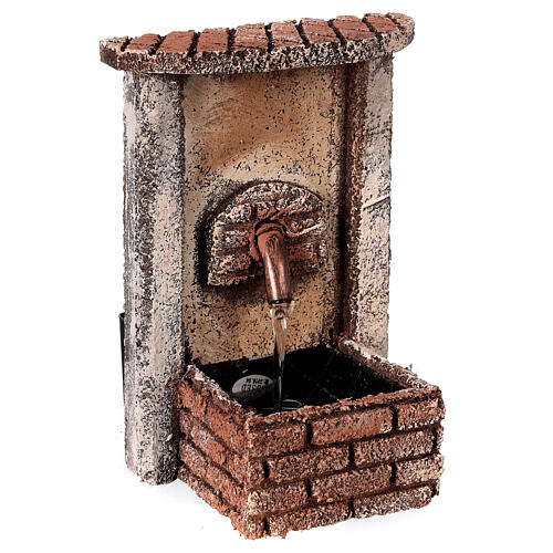 Rectangular fountain with pump 15x10x10 cm for 10-12 cm figurines 2