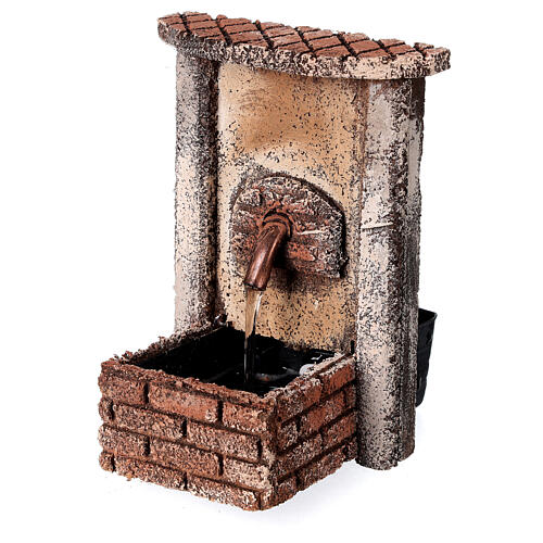 Rectangular fountain with pump 15x10x10 cm for 10-12 cm figurines 3