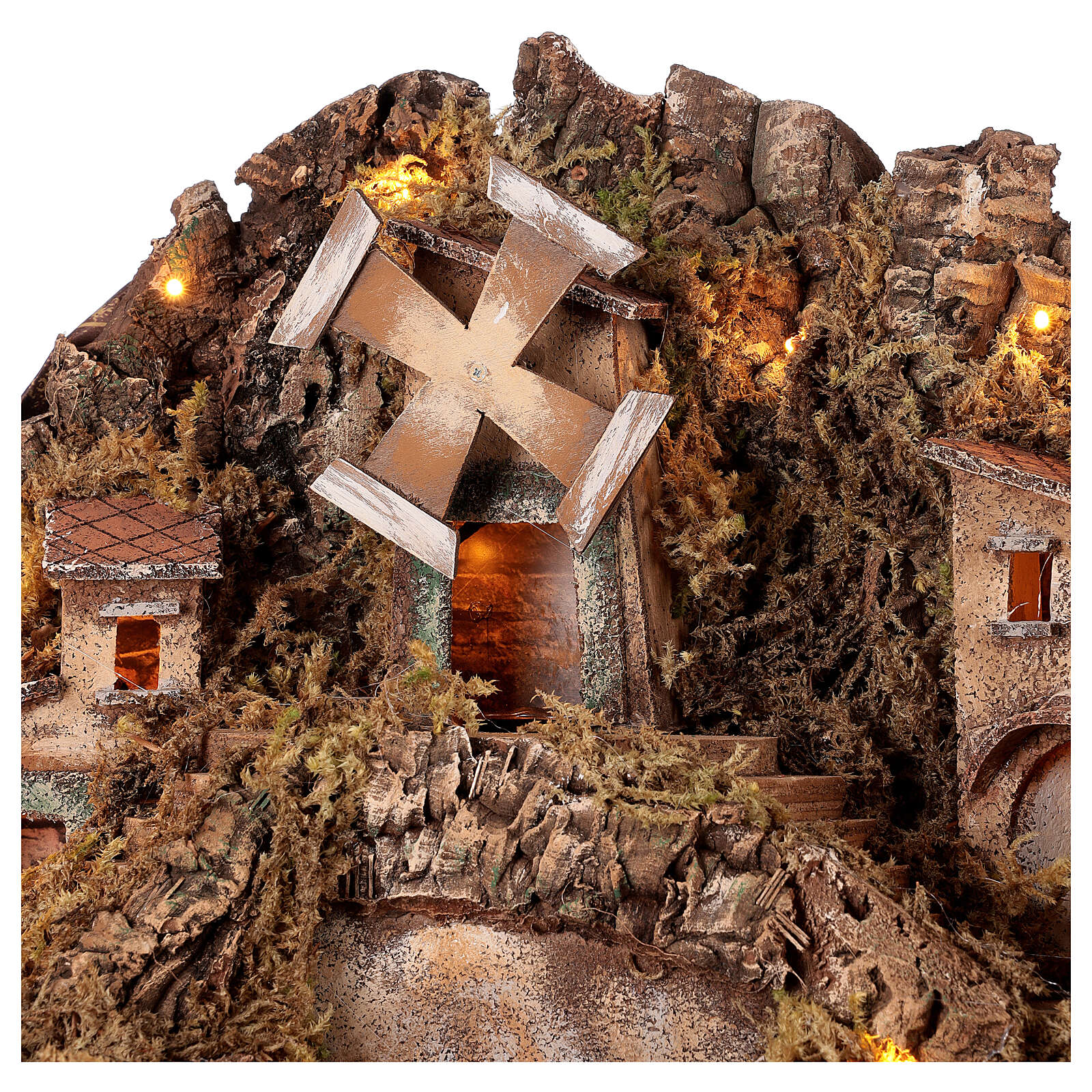 Fountain and windmill for statues 10-12 cm Neapolitan Nativity scene 50x60x50 4