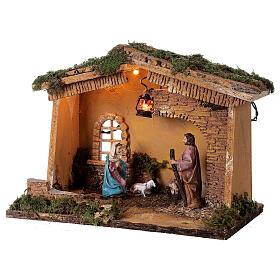 Barn with lantern 25x30x20 cm for Nativity scene 10 cm s3
