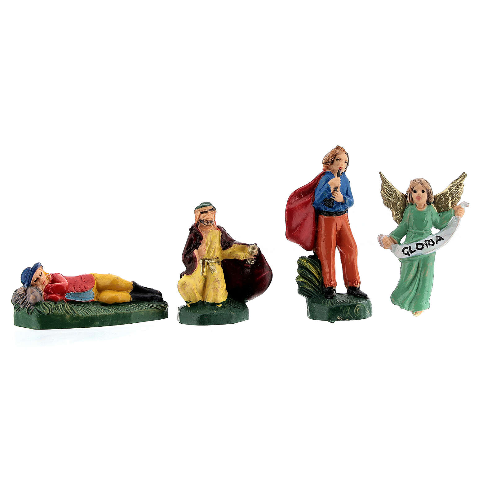 Estatuas belén tipo coloreado 4 cm set 25 piezas 3