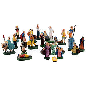 Estatuas belén tipo coloreado 4 cm set 25 piezas s1