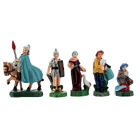 Estatuas belén tipo coloreado 4 cm set 25 piezas s4