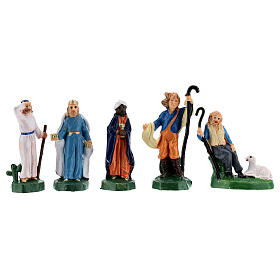Estatuas belén tipo coloreado 4 cm set 25 piezas s5