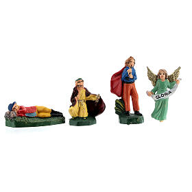 Estatuas belén tipo coloreado 4 cm set 25 piezas s6