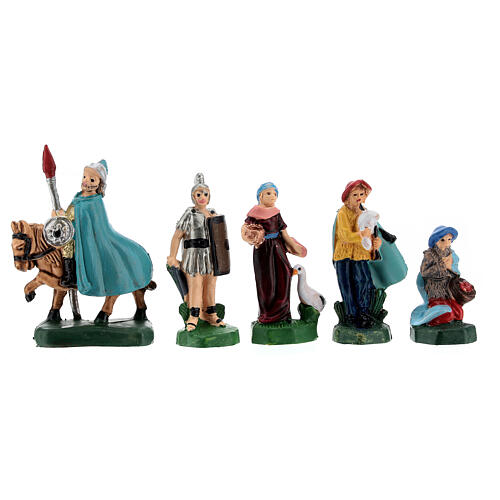 Estatuas belén tipo coloreado 4 cm set 25 piezas 4