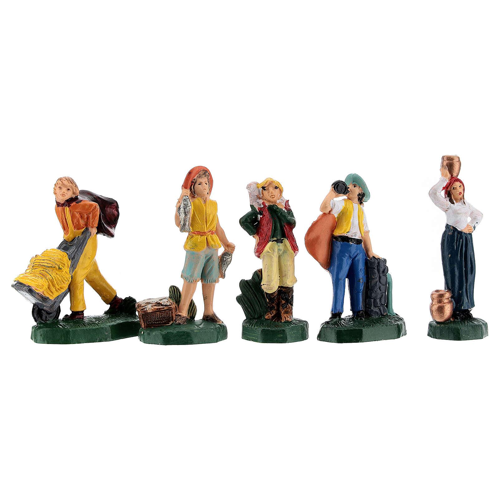 Statuette presepe tipo colorato 4 cm set 25 pz 3
