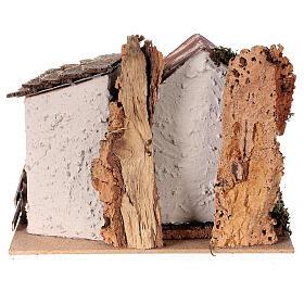 Casa de campo com ovelhas para presépio com figuras altura média 8-10 cm; medidas: 15x20x15 cm s4