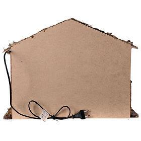 Cabana iluminada estilo nórdico para presépio com figuras altura média 12-14 cm; medidas: 35x50x25 cm s4