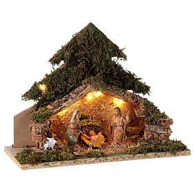 Tree shaped illuminated nativity scene 10 cm s4