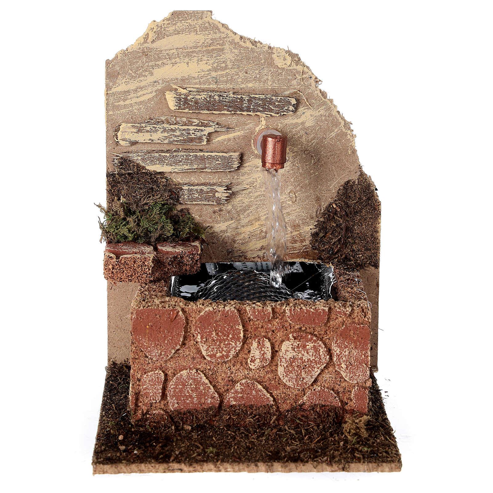 Fuente con bandeja con bomba 15x10x15 cm belén 10-12 cm 4