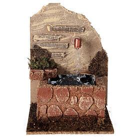 Fontaine avec vasque et pompe à eau 15x10x15 cm crèche 10-12 cm s1