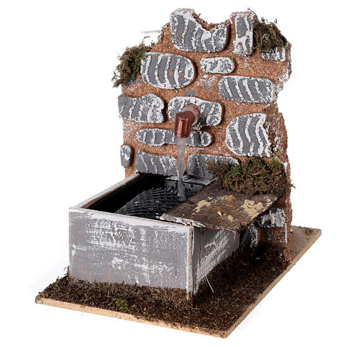 Fountain with pump 15x10x15 cm miniature nativity scene - 10-12 cm 2