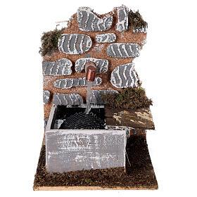 Fontaine avec pompe 15x10x15 cm miniature crèche 10-12 cm s1
