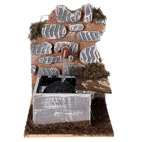 Fontana con pompa 15x10x15 cm miniatura presepe - 10-12 cm 1