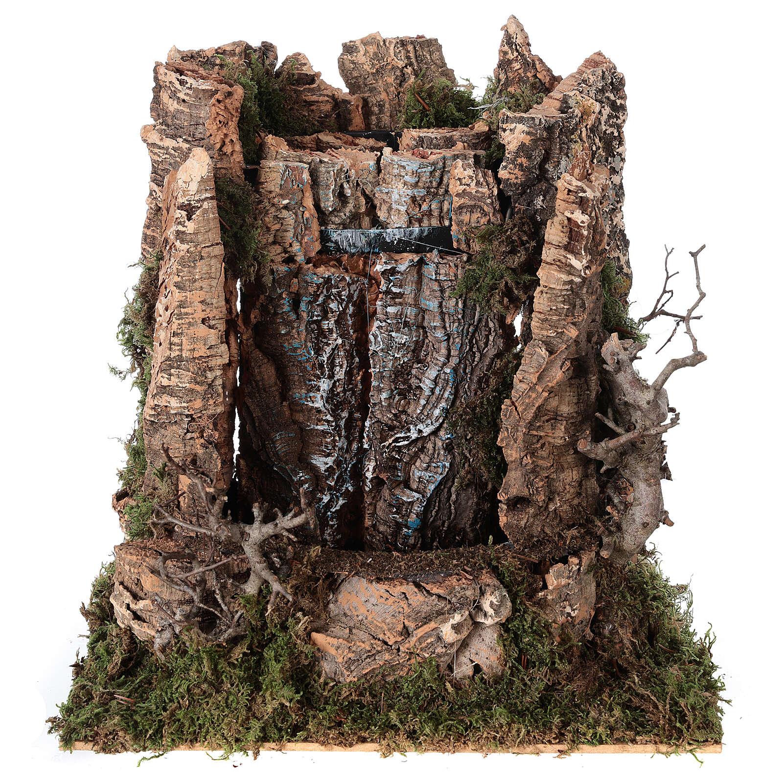 Cascata véu de água com bomba de água para presépio com figuras altura média 14-16 cm; medidas: 25x24x21 cm 4