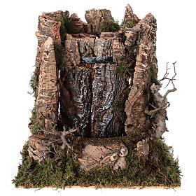 Cascata véu de água com bomba de água para presépio com figuras altura média 14-16 cm; medidas: 25x24x21 cm s1