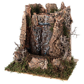 Cascata véu de água com bomba de água para presépio com figuras altura média 14-16 cm; medidas: 25x24x21 cm s2