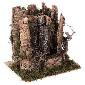 Cascata véu de água com bomba de água para presépio com figuras altura média 14-16 cm; medidas: 25x24x21 cm s3