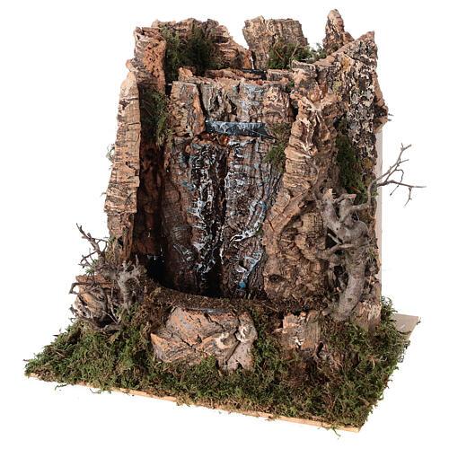 Cascata véu de água com bomba de água para presépio com figuras altura média 14-16 cm; medidas: 25x24x21 cm 2