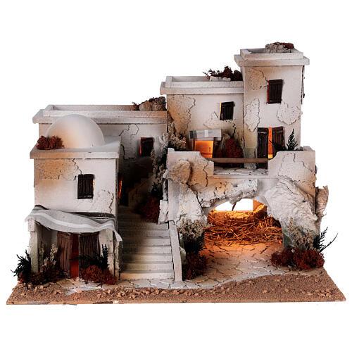 Crèche arabe grotte Nativité santons Moranduzzo 10 cm 35x50x40 cm 7