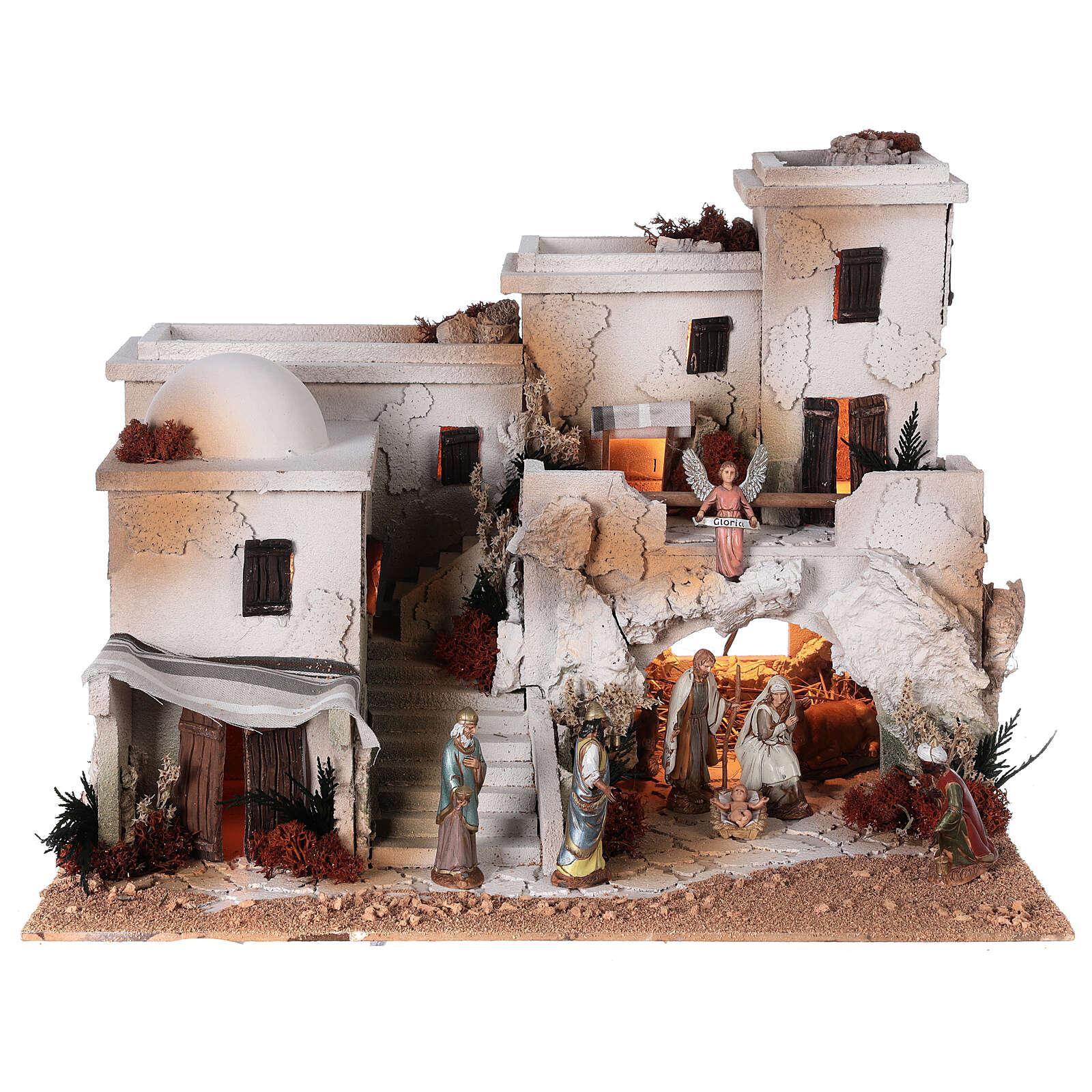 Presepe arabo grotta natività statue Moranduzzo 10 cm 35x50x40 cm 4