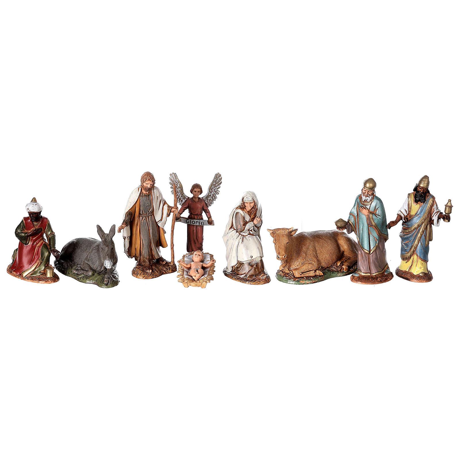 Presépio estilo árabe com gruta da Natividade figuras Moranduzzo altura média 10 cm; medidas: 36,5x50x40 cm 4