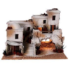 Presépio estilo árabe com gruta da Natividade figuras Moranduzzo altura média 10 cm; medidas: 36,5x50x40 cm s7