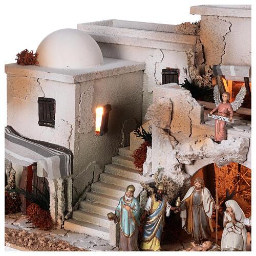 Presépio estilo árabe com gruta da Natividade figuras Moranduzzo altura média 10 cm; medidas: 36,5x50x40 cm 5