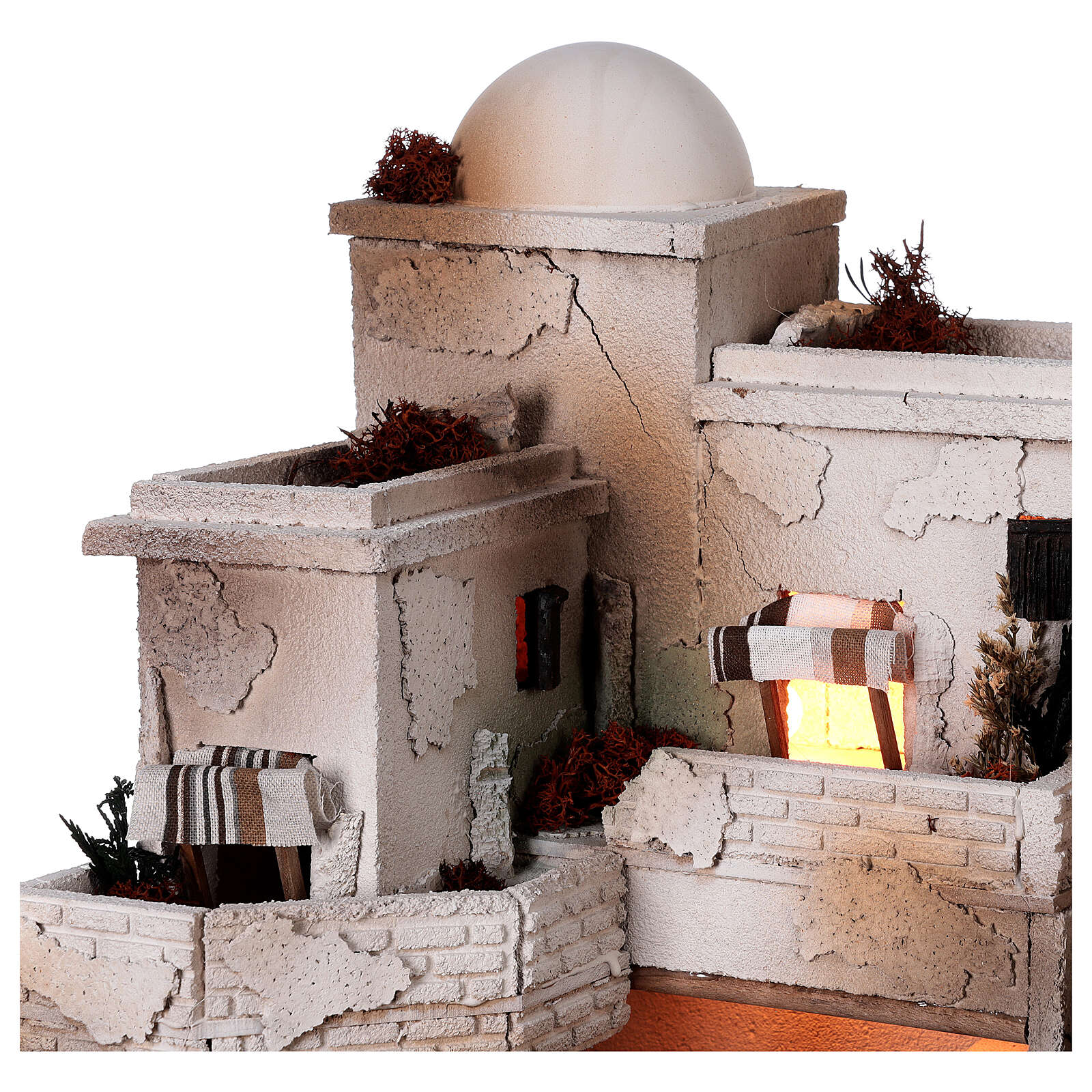 Moranduzzo Arabic style nativity scene complete statues 10 cm 40x50x40 cm 4