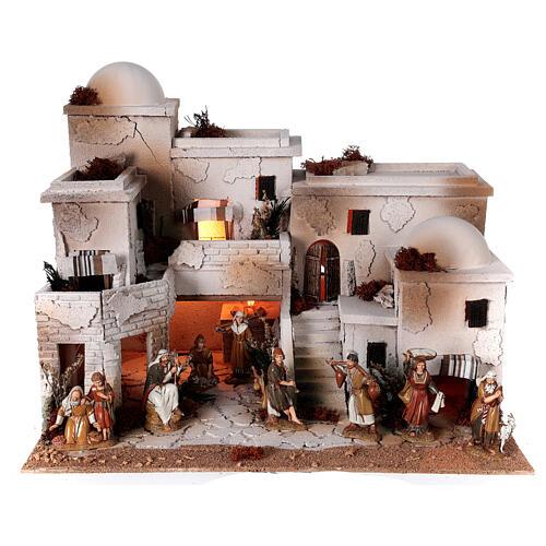 Moranduzzo Arabic style nativity scene complete statues 10 cm 40x50x40 cm 1