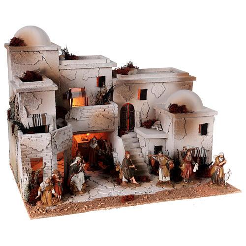 Moranduzzo Arabic style nativity scene complete statues 10 cm 40x50x40 cm 6